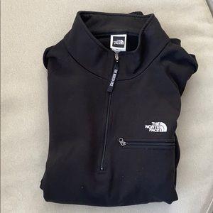 North Face black half zip